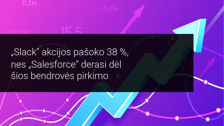Salesforce derasi dėl Slack pirkimo! Akcijos šoktelėjo 38 procentus – ar kils dar daugiau?