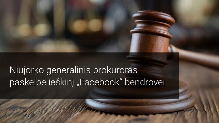 JAV Federalinė prekybos komisija padavė Facebook į teismą