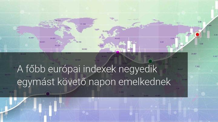Európai indexek emelkednek