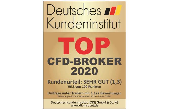 Top CFD Broker 2020 in Deutschland - Erneute Auszeichnung für Admiral Markets vom DKI