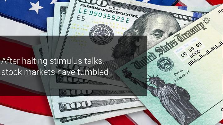 Trump baffles Wall Street by halting stimulus talks