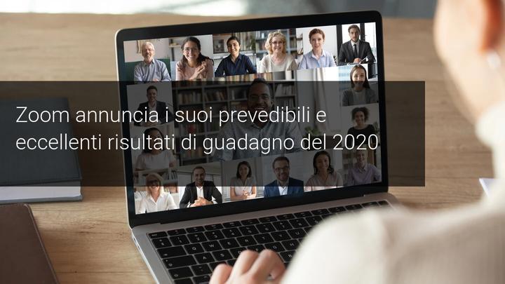 Zoom e guadagni 2020