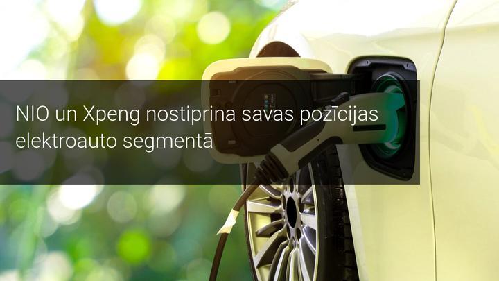 NIO un Xpeng nostiprina savas pozīcijas elektroauto segmentā