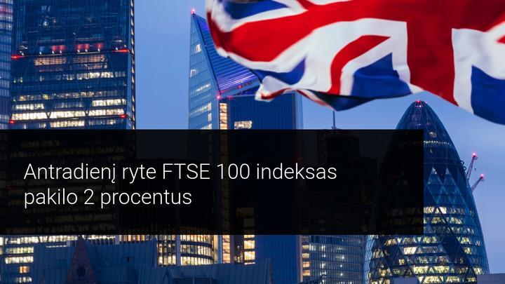 Jungtinės Karalystės akcijos teigiamai reaguoja į ilgai lauktą Brexit susitarimą