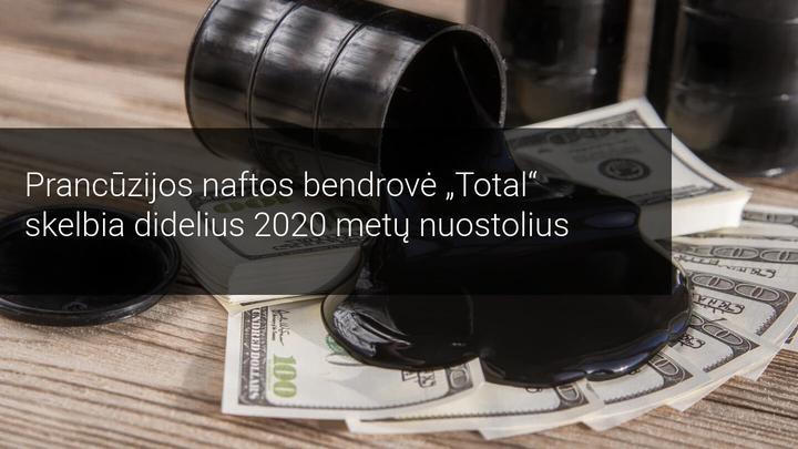 Prancūzijos naftos bendrovė Total skelbia didelius 2020 metų nuostolius