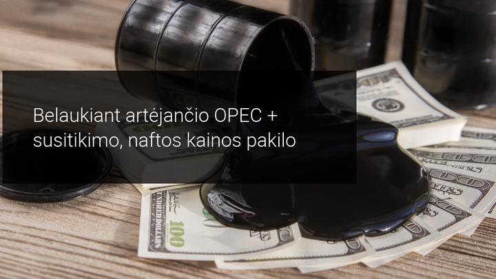 Laukdama OPEC+, Brent laikosi ties 52 doleriais