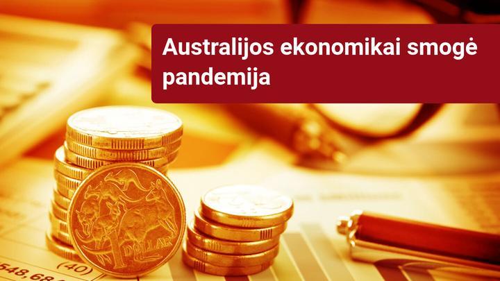 Australijos ekonomika pirmą kartą per 30 metų išgyvena nuosmukį