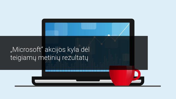 Dėl gerų Microsoft rezultatų akcijos kyla dar prieš rinkų atidarymą