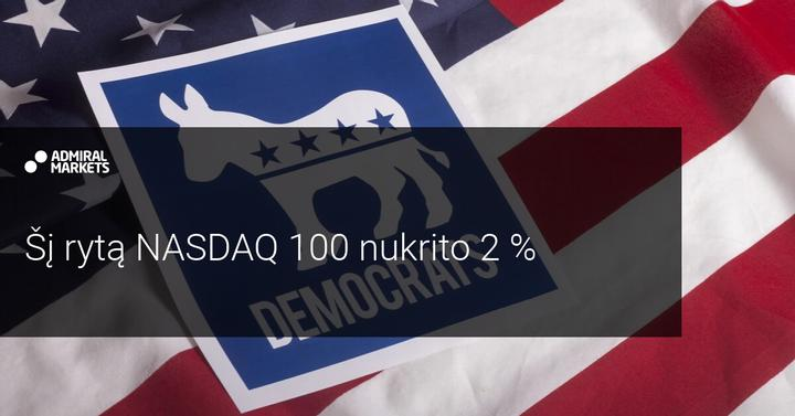 Volstritas reaguoja į laukiamą demokratų pergalę
