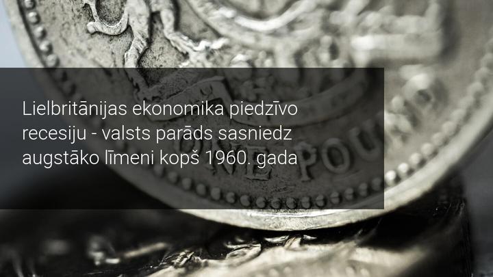 Lielbritānijas valsts parādas sasniedz 2 triljonus GBP