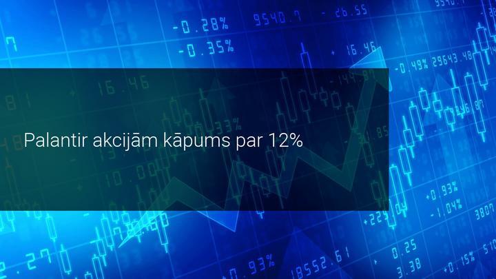 Palantir akciju vērtībai pieaugums divu mēnešu laikā 88% - spekulatīvs burbulis vai iespēja?