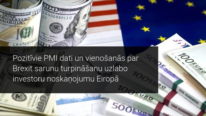 Pirms gaidāmās FED tikšanās PMI dati iepriecina investorus Eiropā