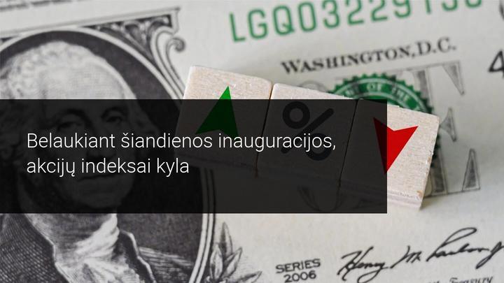 Akcijų rinkos kildamos laukia J. Bideno atėjimo į Baltuosius rūmus