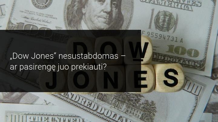Šis mėnuo turėtų būti geriausias Dow Jones mėnuo per daugiau nei tris dešimtmečius