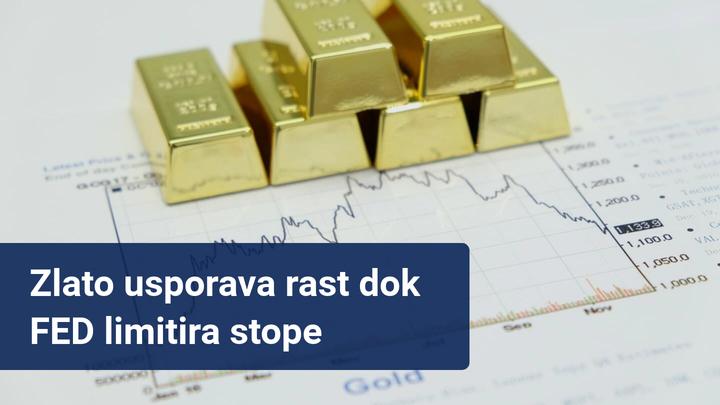 zlato usporava rast