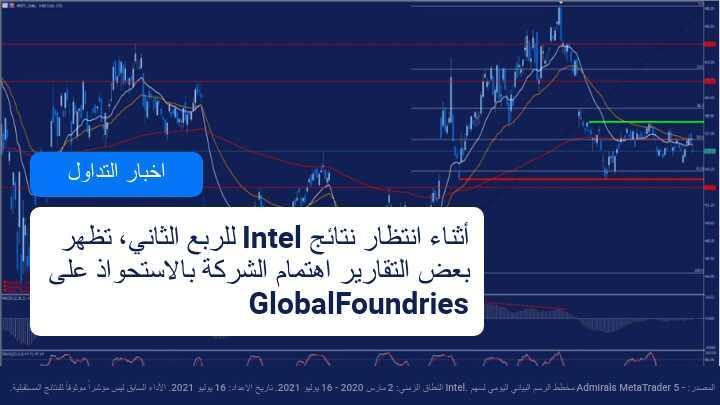 انباء عن خطة انتل للاستحواذ على شركة GlobalFoundries