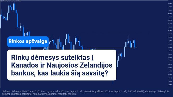 Savaitės rinkų apžvalga: dėmesio centre BOC, RBNZ