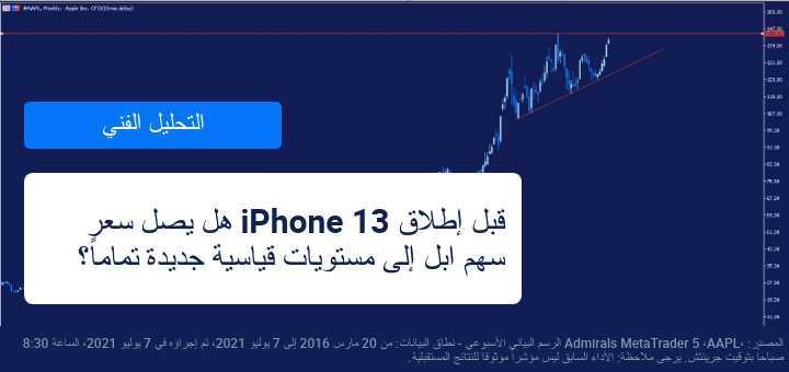 مع اقتراب موعد إطلاق IPhone 13 كيف تتداول سهم ابل؟