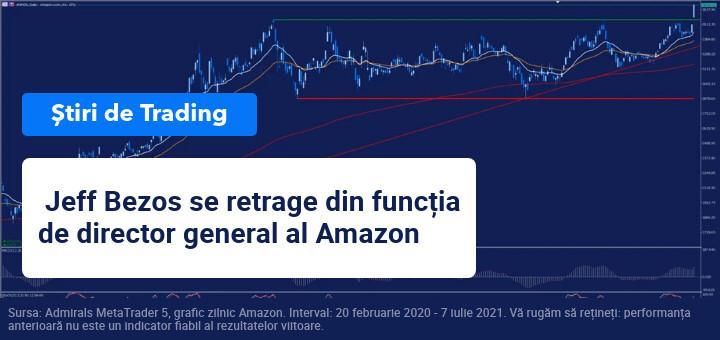 Jeff Bezos se retrage din funcția de director general al Amazon