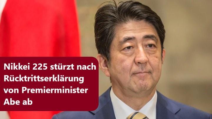 Japans Premierminister Shinzo Abe tritt zurück