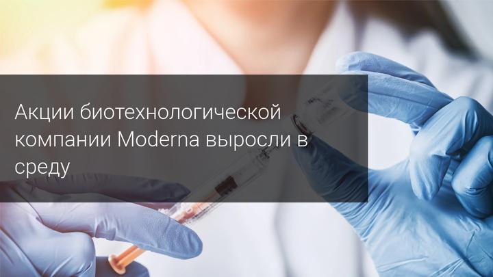Акции биотехнологической компании Moderna выросли в среду