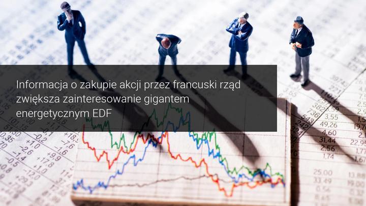akcje spółki EDF mocno w górę