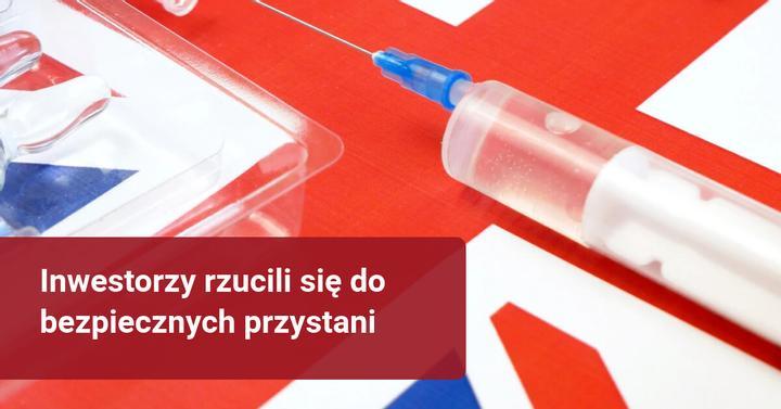 zaszczepiony na koronawirus zachorował - reakcja rynków