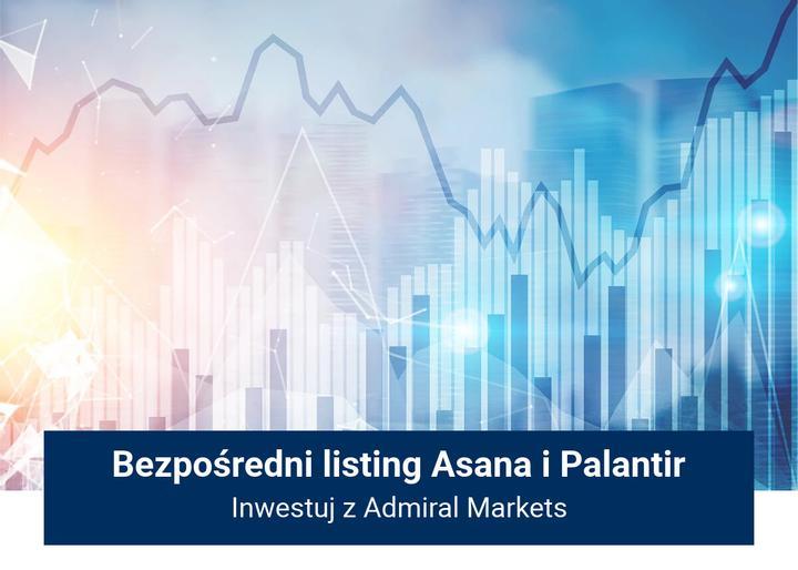 bezpośredni listing Asana i Palantir
