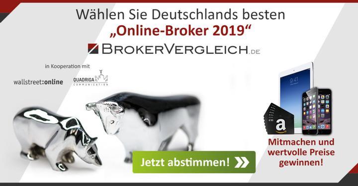 """Abstimmen und gewinnen - Wir wollen """"Online-Broker 2019"""" werden!"""