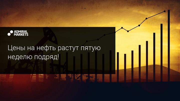 Цены на нефть растут пятую неделю подряд!