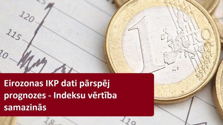 Eirozonas IKP dati nepasargā Eiropas akciju indeksus no vērtības krituma