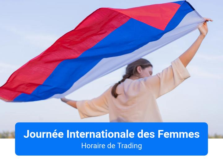 Journée InternationaledesFemmes Horaire de Trading Admiral Markets