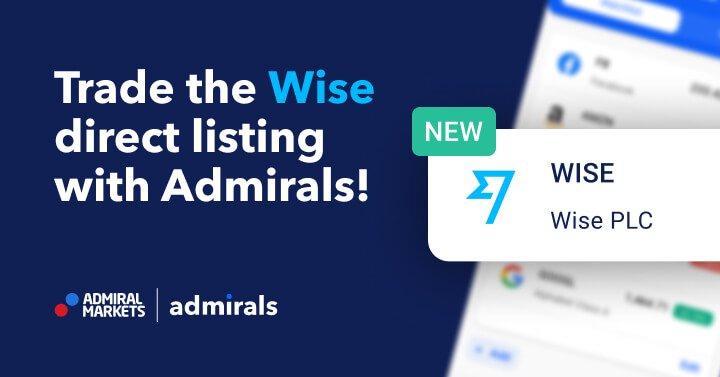 La cotation directe de Wise est un succès, Tradez-la avec Admirals !