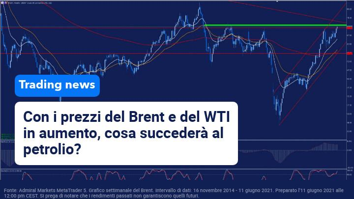 Petrolio e Brent aumentano i prezzi