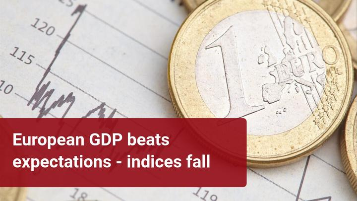 The Eurozone GDP contracted less than expected but did not prevent the European indices from falling
