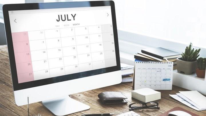 2020 m. liepos mėnesio prekybos tvarkaraštis