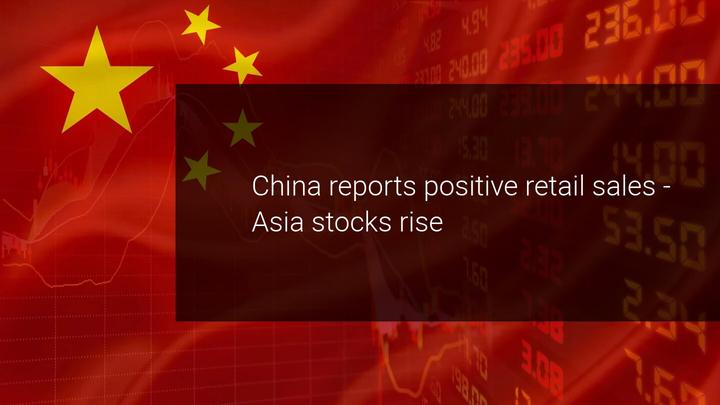 China lifts market on first positive retail sales report
