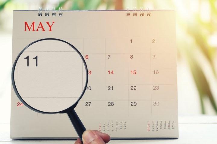 Horário de negociação de maio