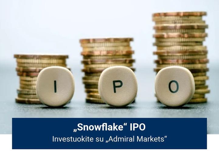 """Investuokite į """"Snowflake"""" IPO su """"Admiral Markets""""!"""