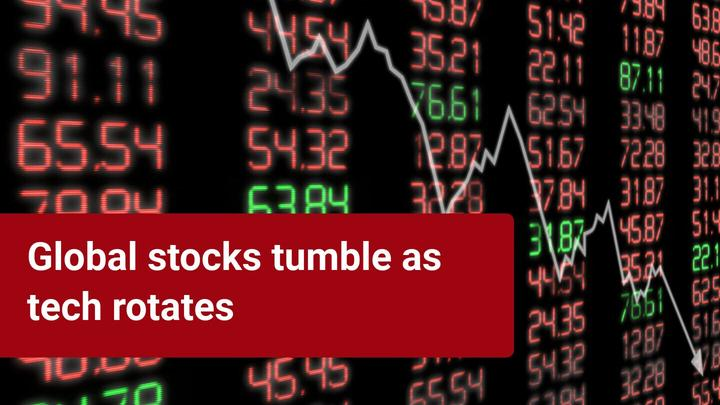 Stocks tumble while 'fear index' surges!