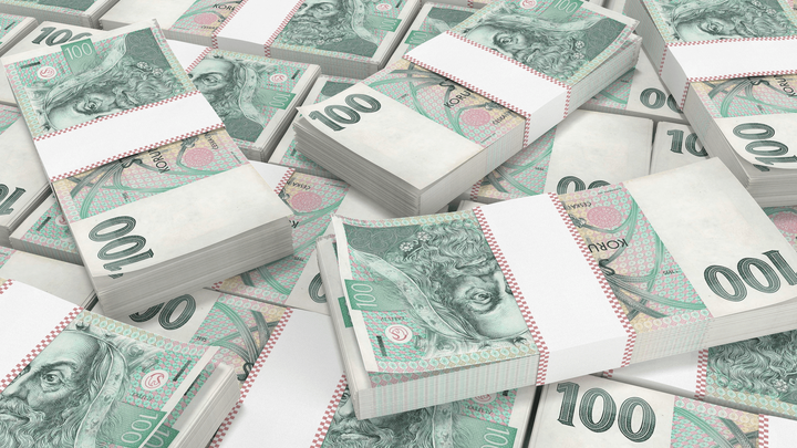 czech koruna margin rates