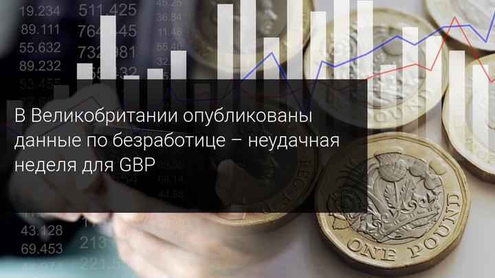 В Великобритании опубликованы данные по безработице - неудачная неделя для GBP
