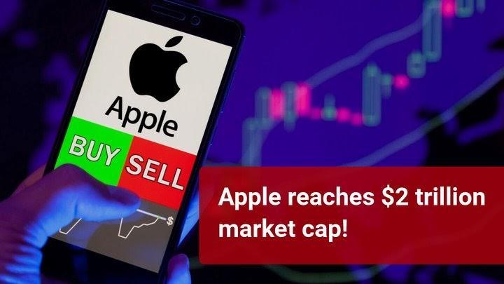 """""""Apple"""" pasiekė 2 trilijonų JAV dolerių rinkos kapitalizaciją!"""