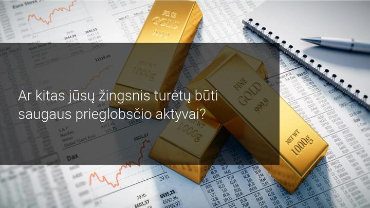 Azijos sesijoje auksas auga vėl didėjančio neapibrėžtumo fone