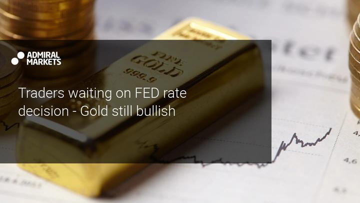 Gold traders with a clear focus on the FED on Wednesday