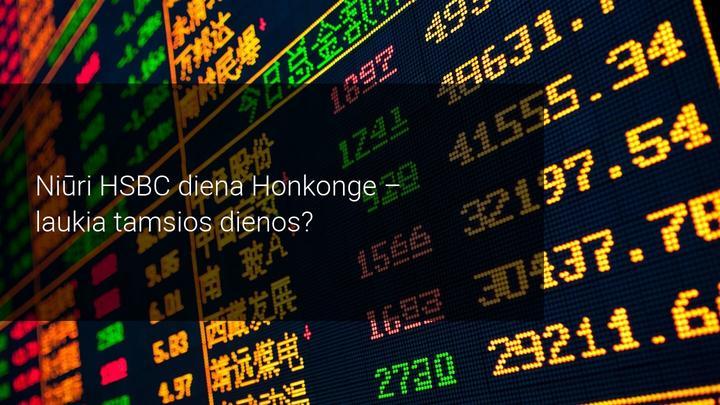 HSBC žlunga Honkonge dėl patiriamo spaudimo keliais frontais