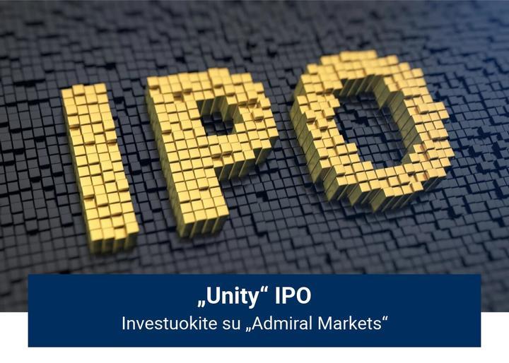 """Investuokite į """"Unity"""" IPO su """"Admiral Markets""""!"""