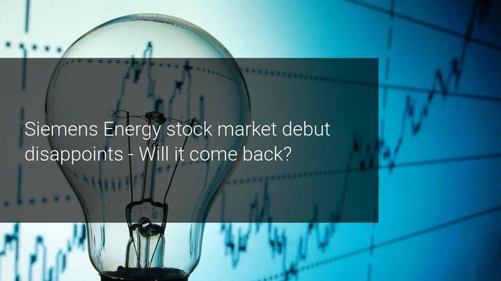 Siemens Energy debuteert onder verwachting