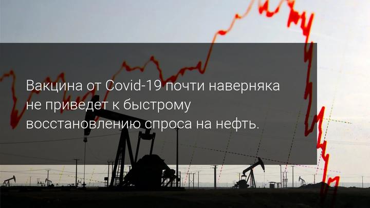 Вакцина от Covid-19 почти наверняка не приведет к быстрому восстановлению спроса на нефть.