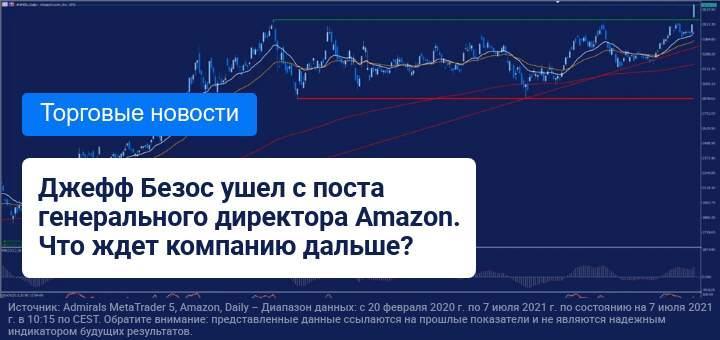 Джефф Безос покинул пост генерального директора Amazon